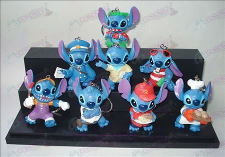 A generation of eight Lilo & Stitch Accessories Doll Keychain