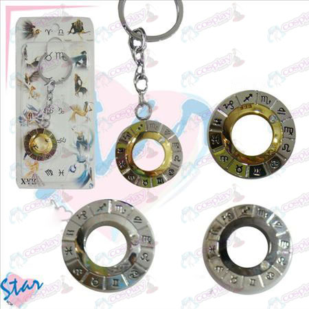 Twelve constellations Accessories Turn Key Chain