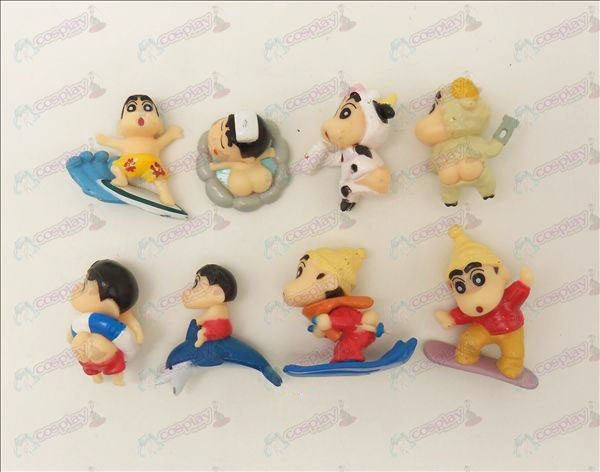 Eight Crayon Shin-chan Accessories Doll