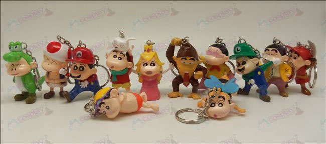 13 models Crayon Shin-chan Accessories Keychains