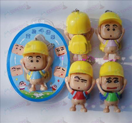 Crayon Shin-chan Accessories face doll ornaments (a) blue