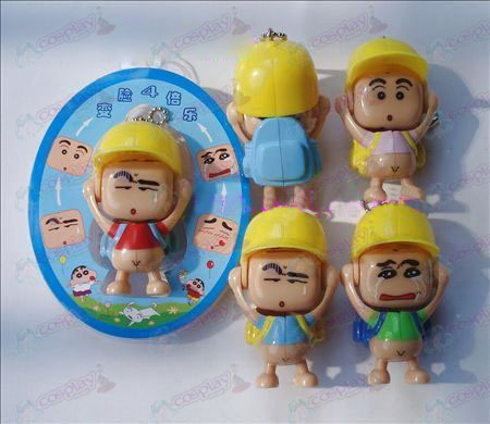 Crayon Shin-chan Accessories face doll ornaments (a) red