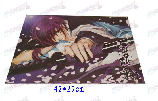 D42 * 29Hakuouki Accessories embossed posters (8)