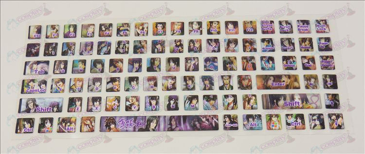 PVC keyboard stickers (Hakuouki Accessories)