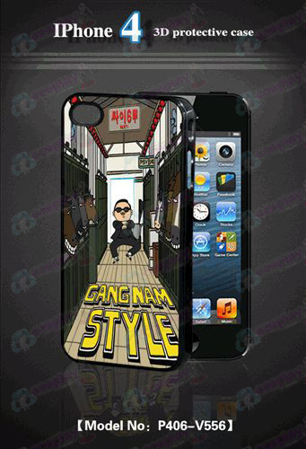 3D mobile phone shell Apple 4 - tert-riding Bird Dance
