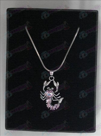 Saint Seiya Accessories scorpion necklace (pink)
