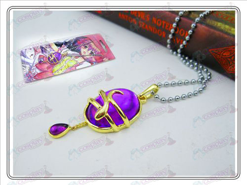 Magical Girl Accessories drop necklace (purple) card installed