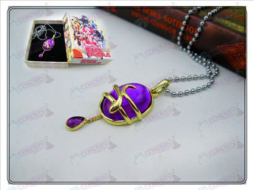 Magical Girl Accessories drop necklace (purple) Boxed