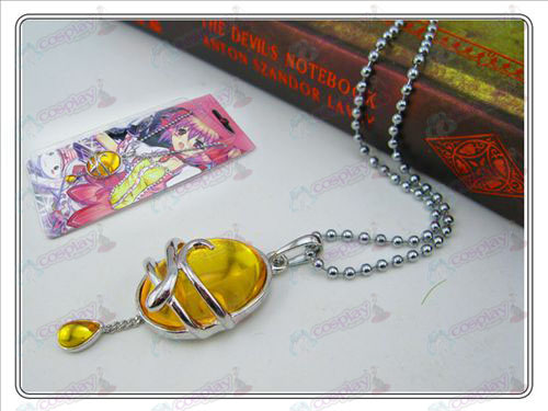 Magical Girl Accessories drop necklace (yellow) card installed