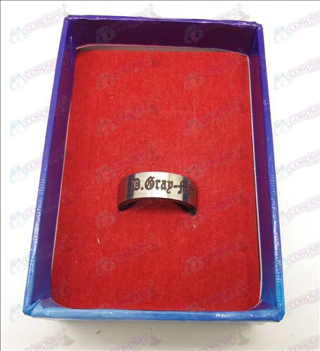D.Gray-man Accessories white steel rotating ring