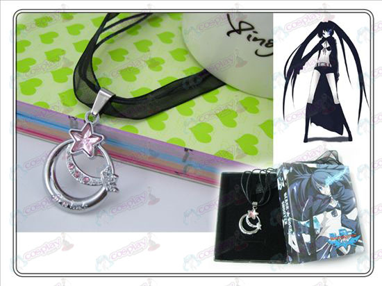 Lack Rock Shooter Accessories Pink Star of Love Necklace