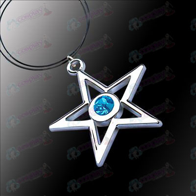 Lack Rock Shooter Accessories pentagram necklace (blue)
