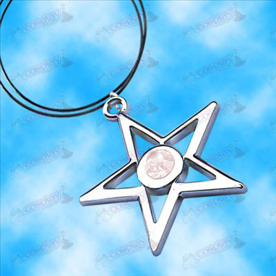 Lack Rock Shooter Accessories pentagram necklace (white)