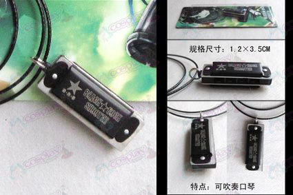Lack Rock Shooter Accessories harmonica necklace