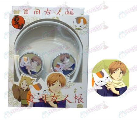Stereo headset can be folded commutation headphones Natsume's Book of Friends Accessories