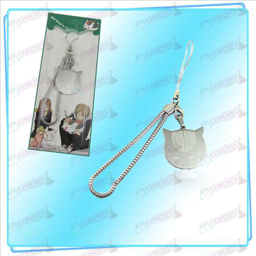 Natsume's Book of Friends Accessories (cat face phone chain)