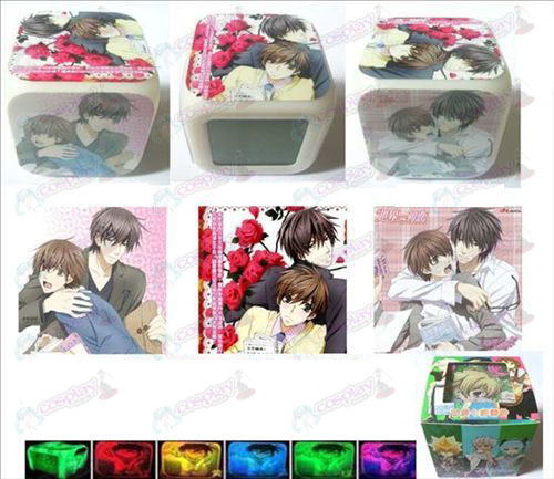 World's first love 3 surface color colorful alarm clock