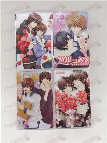 4 PVC card affixed world's first love