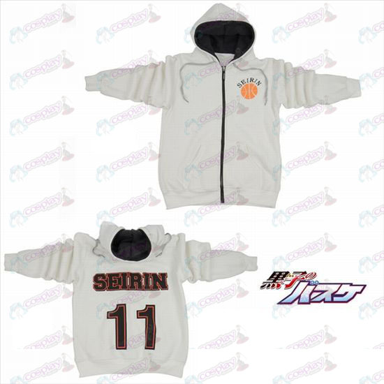kuroko's Basketball Accessories11 numbers logo zipper hoodie sweater white