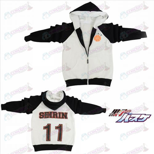 kuroko's Basketball Accessories logo fork sleeve zipper hoodie sweater