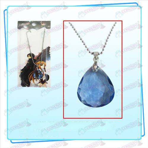 Sword Art Online Accessories Kazuto Asuna Yui heart blue necklace