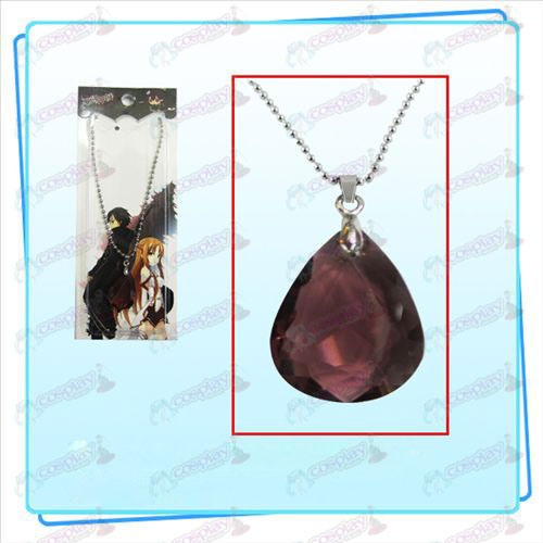 Sword Art Online Accessories Kazuto Asuna Yui heart necklace (red