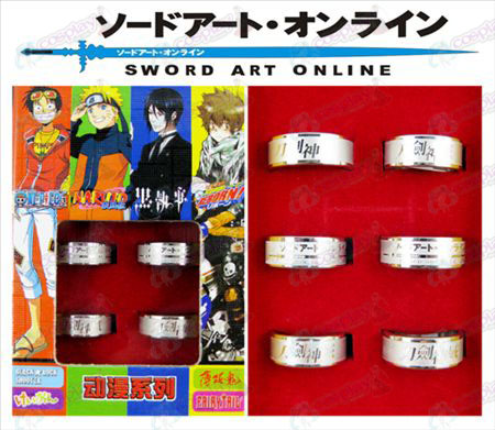 Sword Art Online Accessories Frosted Ring (6 / set)