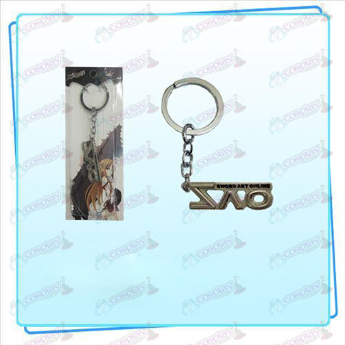 Sword Art Online AccessoriesSAO flag key ring (pearl nickel color).