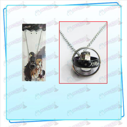 Sword Art Online Accessories Ring Necklace (Black)