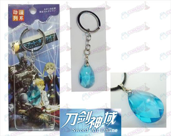 Sword Art Online Accessories Yui Blue Crystal Heart Keychain