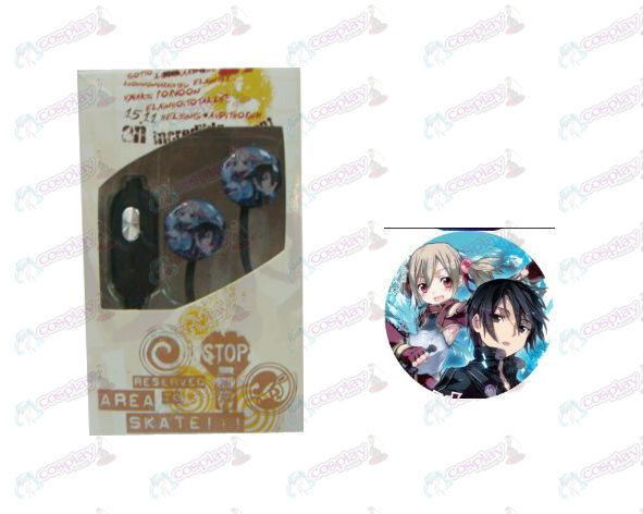 Flat line can voice headset Sword Art Online Accessories Tong and Asuna