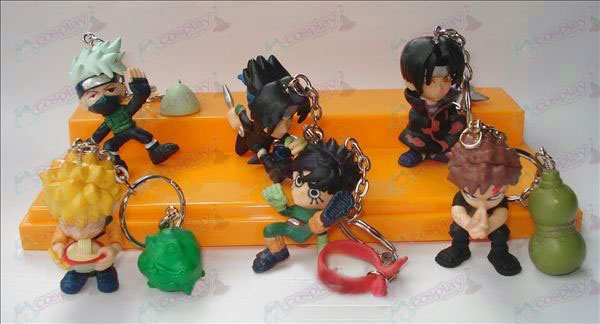 A6 models Naruto doll keychain