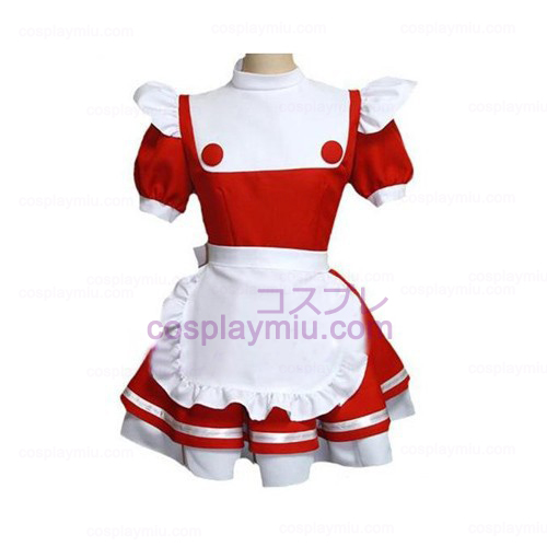 Red-white Maid Uuniform Lolita Cosplay Costume