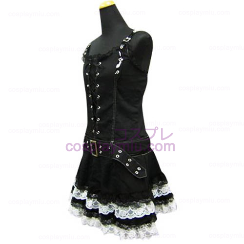 Cool Black Punk Lolita Cosplay Dress