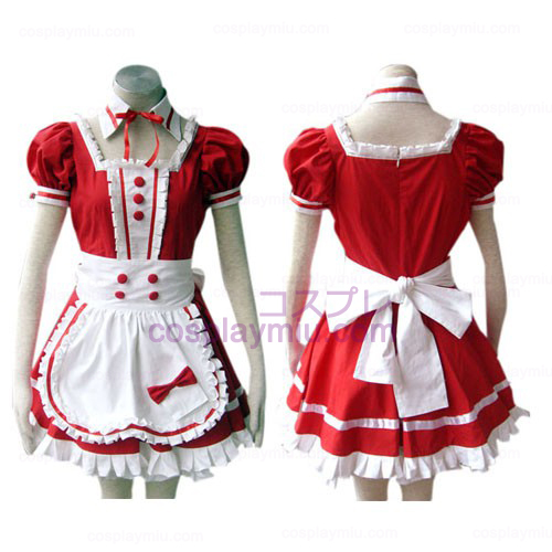 Red Gothic Lolita Cosplay Costume