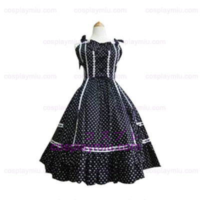 White Polka Dot Lolita Cosplay Dress