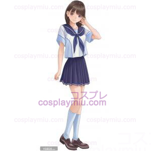 Love Plus Girl Summer Uniform Cosplay Costume