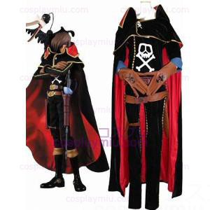 The Galaxy Express 999 Captain Harlock Cosplay Costume