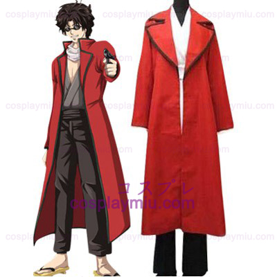 Red Gin Tama Takasugi Shinsuke Cosplay Costume