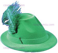 Hat Alpine Green W/Feather