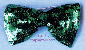 Bow Tie,Sequin,Green