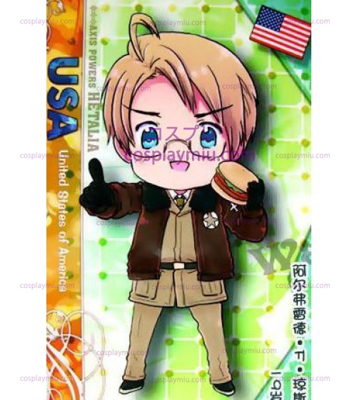 America Cosplay Costume from Axis Powers Hetalia