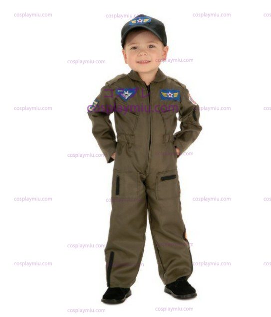 Kid Air Force Fighter Pilot Top Gun Halloween Costume