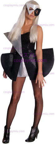 Lady Gaga Blk Sequin Dress Std