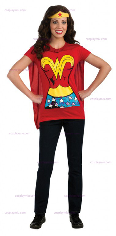 Wonder Woman Adult Shirt Costume