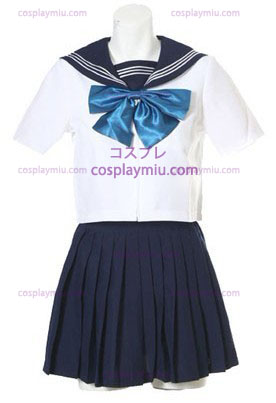Short Sleeves Sailor School Uniform Cosplay Costume