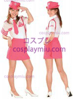 White Pink Orthodox Lady Police Uniform Costume