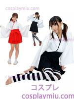 Long Sleeve Kimono Witch Gir Priest Costume
