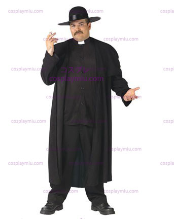 Deluxe Priest Adult Plus Costume