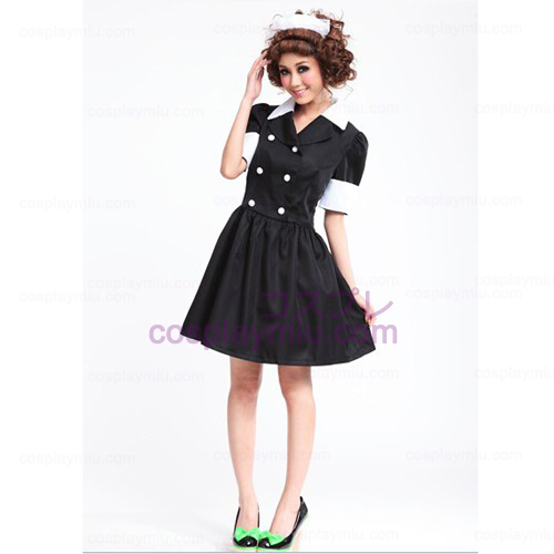 Lolita Cosplay costume/Black Barbie Doll Maid Costumes